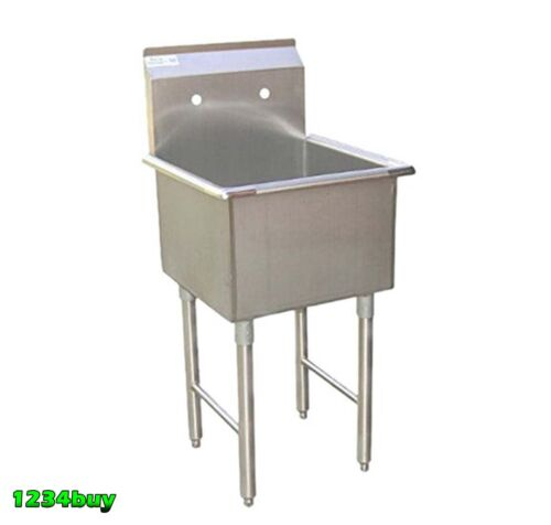 """Sink 18/"""" x 18/"""" x 13/""""D ETL SE18181P 1 Compartment Stainless Steel Utility Prep"""