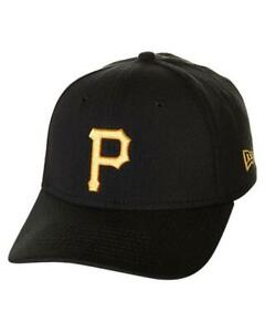 "Black New Era 39Thirty Pittsburgh Pirates GAME /""Team Classic/"" Hat MLB Cap"