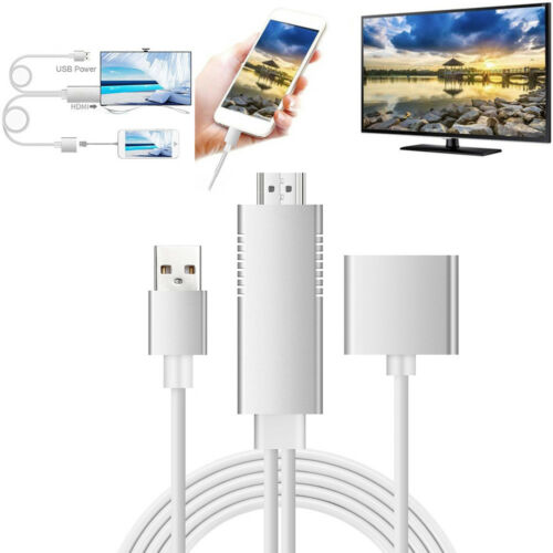 Lightning To HDMI Digital AV TV Cable Adapte fit for IOS iPhone 8.0 Android 5.0