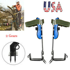 Tree Climbing Spike 2 Gears Set Safety Belt Rope Rescue Belt Stainless Steel Usa