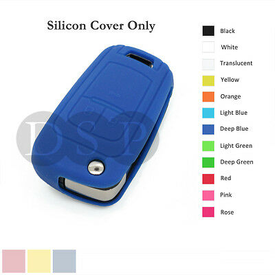 Silicone Cover Holder fit for Chevrolet Folding Flip Remote Key Fob Case 12C DB