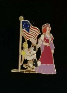 Disney-JESSICA-amp-Roger-Rabbit-4th-of-JULY-Colonial-Costume-Flag-Pin-LE-250-WFRR