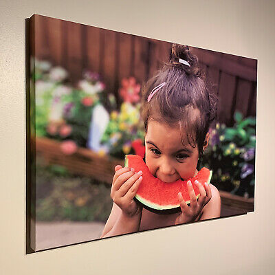 Personalised Photo on Canvas Print Framed  A1 A2 A3 A4 A5 Ready to Hang