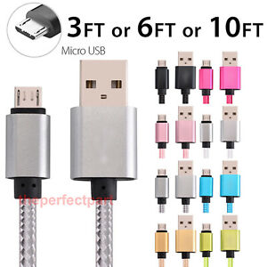3-6-10FT-Micro-USB-Fast-Charger-Data-Sync-Cable-Cord-For-Samsung-HTC-Android-LG