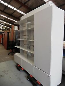 OFFICE-DISPLAY-SHELVING-amp-STORAGE-UNIT-WITH-DRAWERS-amp-CUPBOARD-BRISBANE