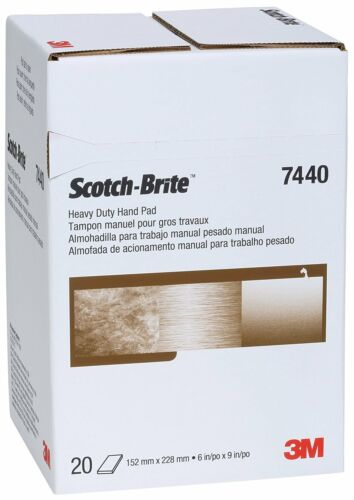 "3M 65055 Scotch-Brite Heavy Duty Hand Pads 7440 Pack of 20 6/"" Width 6/"" x 9/"""