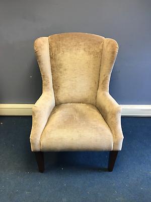 Laura Ashley Wingback Fireside Light Brown Armchair | eBay