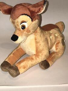 Disney-Tienda-Autentico-Genuino-12-034-Peluche-Ciervo-Fawn-Peluche-Bambi-EUC