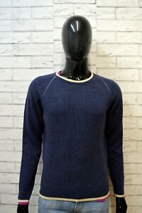 Maglione-Uomo-DIESEL-Maglia-Blu-Lana-Cardigan-Pullover-Taglia-M-Sweater-Man-Top