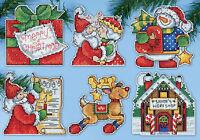 Cross Stitch Kit Design Works 6 Santa's Workshop Christmas Ornaments Pc Dw1692