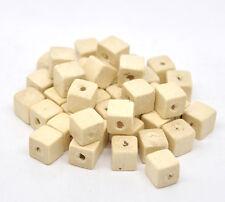 20 perles Cube en bois 10mm couleur Naturel 10 mm perle, bijoux, bracelet