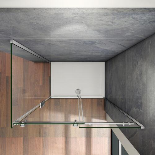 Duschkabine Duschwand Schiebetür Duschabtrennung Dusche Nischentür 195cm ESG