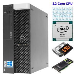 12-Core-Dell-Precision-T5810-Workstation-Xeon-2678v3-64GB-Ram-240GB-SSD