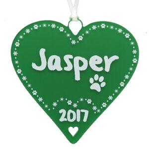 image is loading pet dog cat christmas tree decoration paw xmas - Christmas Pet Names
