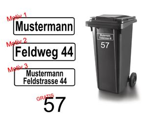 Mülltonne Aufkleber Mülltonnen Beschriftung Individual decal 24 #8062