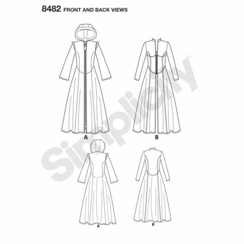 S8482 Simplicity Sewing Pattern Misses/' The Matrix Costume Trench Coats Cosplay