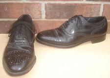 Mens E.T. Wright 9 1/2 C/A Black Wingtip Oxford Dress Shoes 9.5