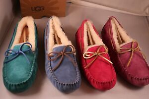 UGG-Australia-Women-039-s-Dakota-Moccasin-Slippers-Red-Violet-Aster-Blue-Jay-Marlin
