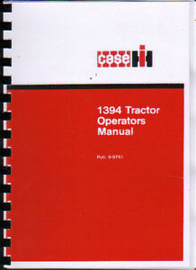 case ih 1394 tractor operator instruction manual ebay rh ebay co uk 1985 Case IH 285 Tractor 1394 Case Tractor Parts