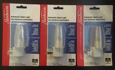 3 X Automatic On/Off Sensor Night Light_Wall Plug_C7.4W.120V max_60Hz. TRY IT!