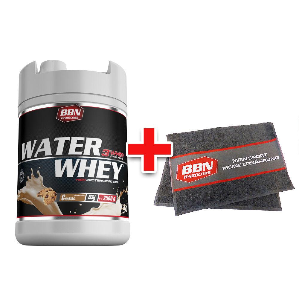 Best Nutrition Body Nutrition Best Water Whey Protein 2500 g + gratis BBN Hardcore Handtuch 51cc57