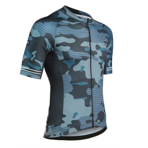 Short Sleeve Mens Cycling Jersey Outdoor Sports Shirt Jersey Quick Dry 3 Pocket