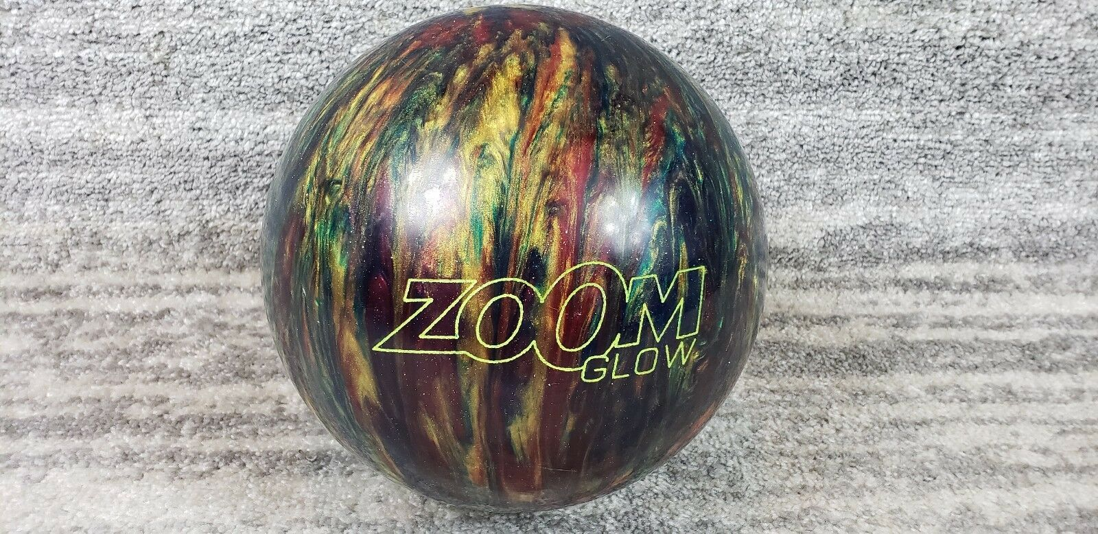 Ebonite Zoom Glow Bowling Ball 10 lb Multi colord Swirl New Undrilled