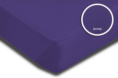 200x200 cm violett lila Jersey Bettlaken 2 Stück Set Spannbettlaken 180x200 cm