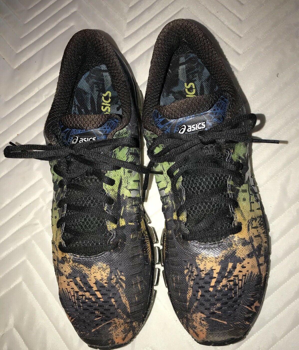 hommes ASICS Gel Quantum 360 Running Chaussures T5J1N - RealTree Camo -