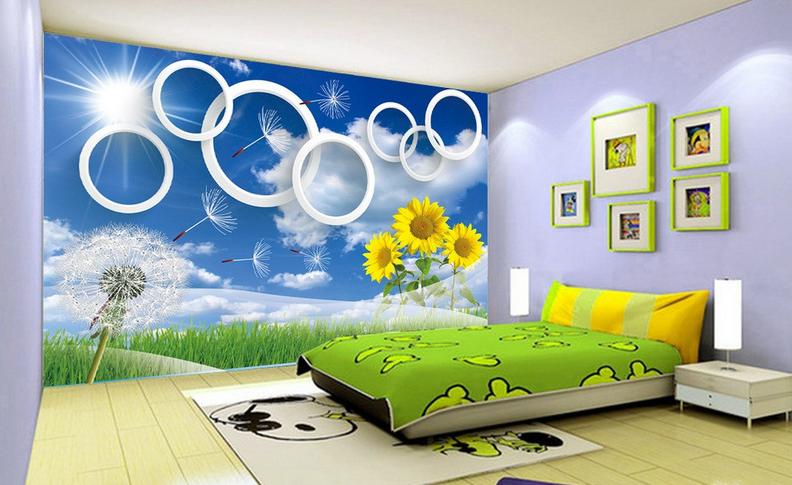 3D Löwenzahn SonnenBlaume 864 Tapete Wandgemälde Tapete Tapeten Bild Familie DE