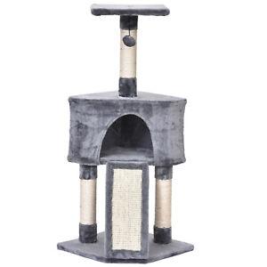 Sisal Scratching Posts Condo Cat Tree 3-Level Cat Tower