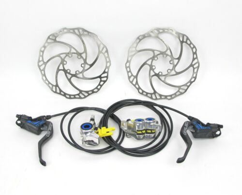 Magura MT Trail Carbon Hydraulic MTB Disc Brakeset 180mm Rotors Front and Rear