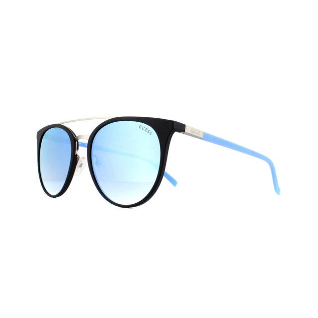Guess Gafas de Sol GU3021 05X Negro Azul Azul Mirror