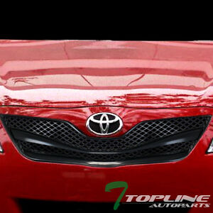 black wire mesh front hood bumper grill grille guard abs 2010 2011 toyota camry ebay. Black Bedroom Furniture Sets. Home Design Ideas