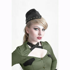 S164 Punk Rave Visual kera Gothic Rivets Uniform Cap