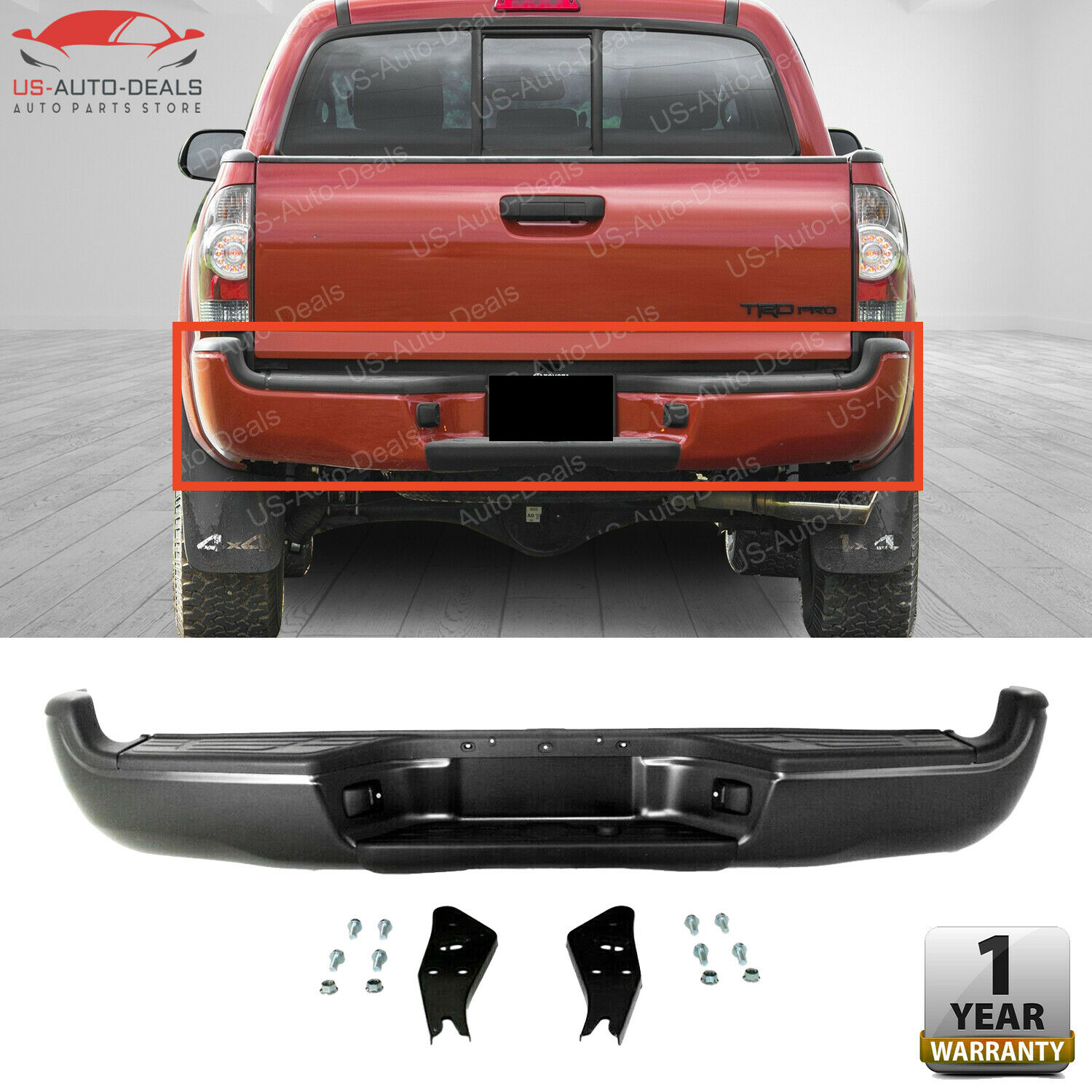 Compatible with Toyota Tacoma 05-15 Rear Bumper Molding Step Pad Extension Left Side Plastic Primed