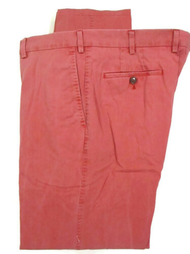 Suit Supply Mens Red Flat Front Cotton Chino 36x31