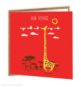 Leaving bon voyage travel goodbye good luck greetings card funny image is loading leaving bon voyage travel goodbye good luck greetings m4hsunfo