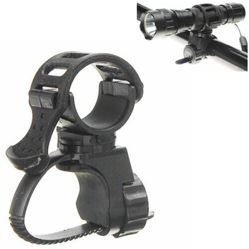 1Pcs Black 360 Degree Bike Bicycle Flashlight Torch Mount Holder Clamp Clip