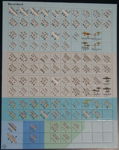 Plan View Counters for Avalon Hill's War at Sea II and War at Sea 2