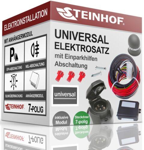 ELEKTROSATZ E-SATZ UNIVERSAL 7-polig für ANHÄNGERKUPPLUNG AHK AUDI A4 B6