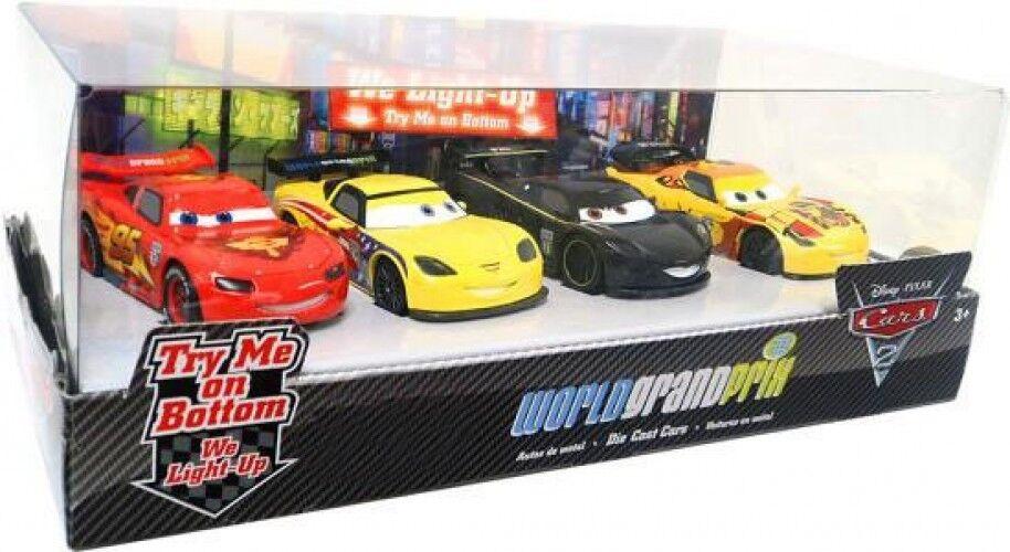 Cars Cars 2 Light Up World Grand Prix Diecast Car Set [Set Damaged]