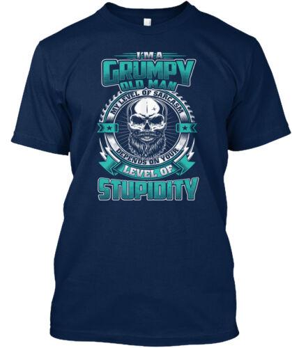 Men Grandpa T Black Im A Grumpy Old Man My Level Of Standard Unisex T-shirt