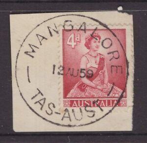 Tasmania-nice-1959-MANGALORE-postmark-on-piece