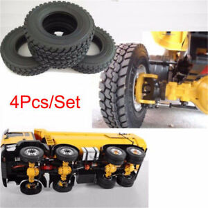 4Pcs-Rubber-Tires-For-Tamiya-1-14-Tractor-Truck-Trailer-RC-Model-Car-Truck