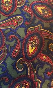 Vintage-Paterson-of-London-Green-Paisley-Tie-Ditsy-Vintage