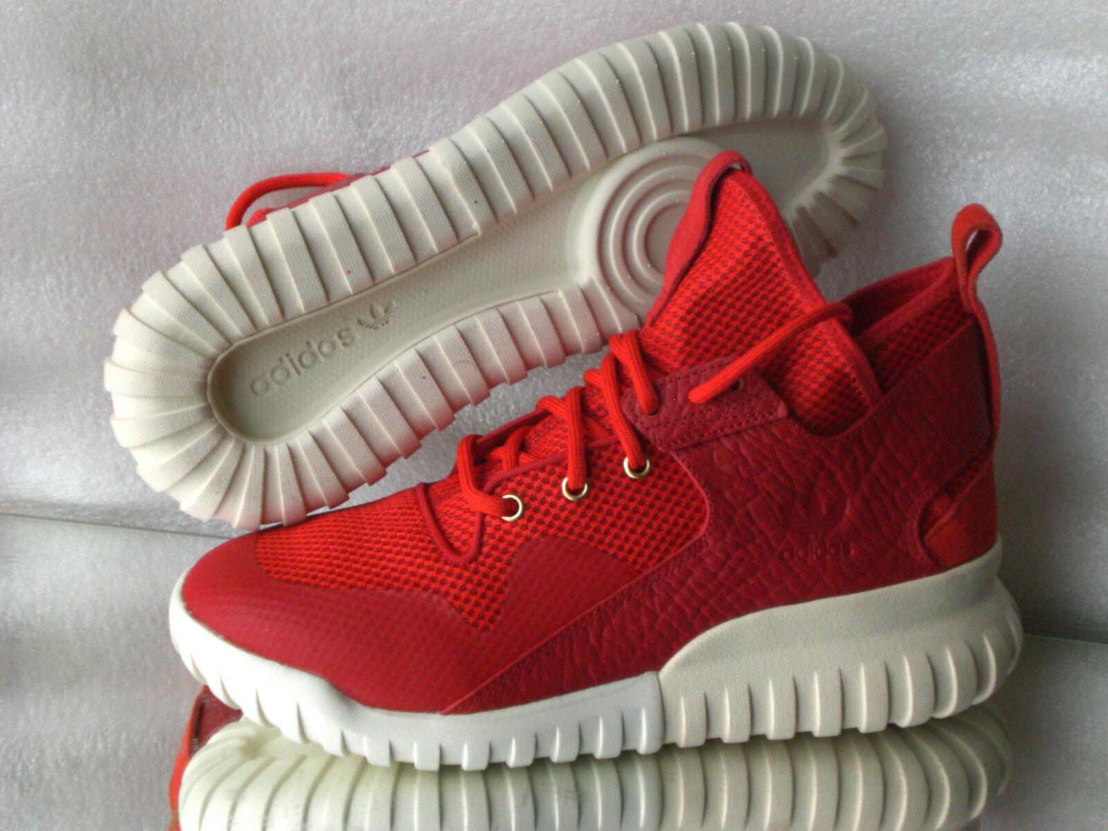 Adidas Originals tubular x yuans aq2548b High-top Basket Cuir/texil Mens rouge nouveau