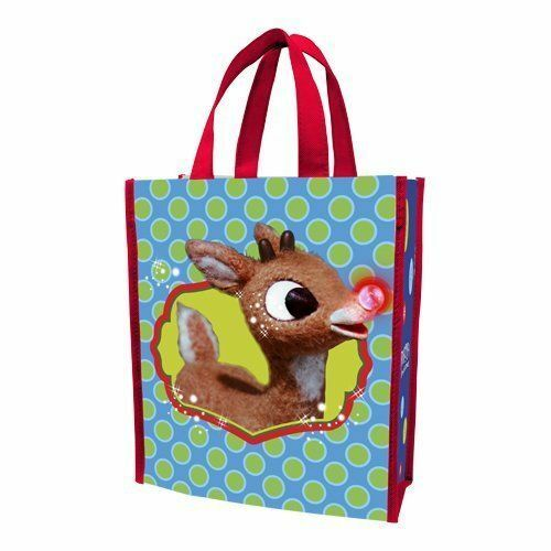 Rudolph The Red Nose Reindeer Holly Jolly Christmas Tote Bag 12/'/' x 10/'/' Carry