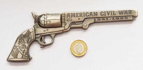 American Civil War Metal Civil War Pistol Bottle Opener Magnetic Silver Finish