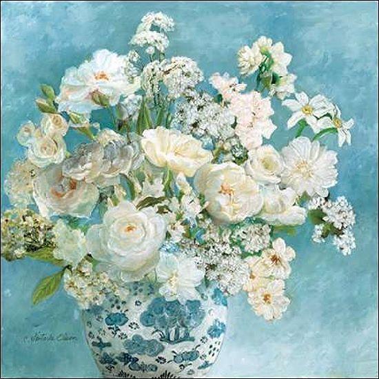 Charlene Olson  Savannahs Garden i Barella-Immagine Schermo Fiori Blu Struzzo
